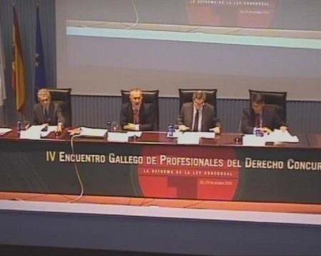 Inauguración - IV Encontro Galego de Profesionais do dereito concursal